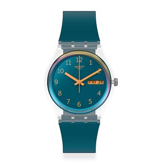 Swatch Blue Away Unisex Blue Silicone Strap Watch - Product number 1259970