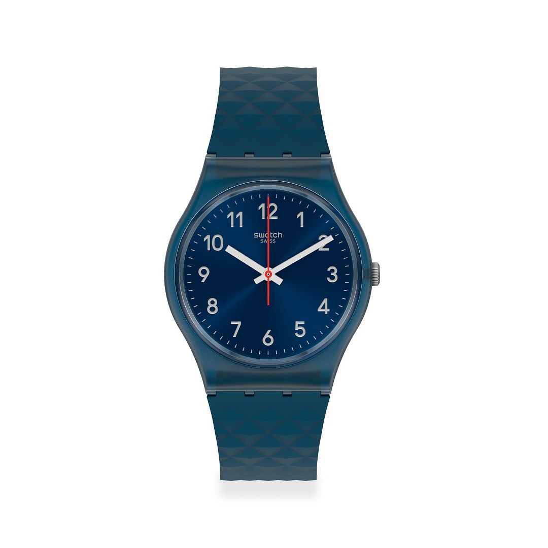 Swatch Bluenel Unisex Blue Silicone Strap Watch - Product number 1259989