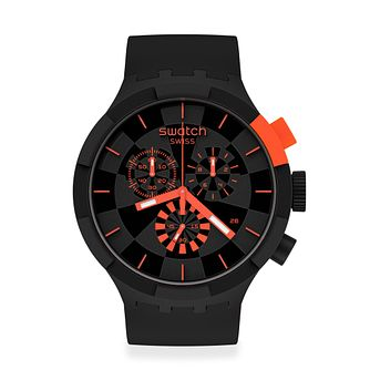 Swatch Checkpoint Red Unisex Rubber Strap Watch - Product number 1260022