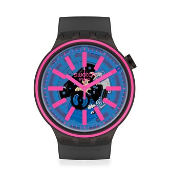 Swatch Blue Taste Unisex Black Rubber Strap Watch - Product number 1260030