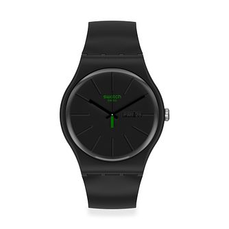 Swatch Neuzeit Unisex Black Silicone Strap Watch - Product number 1260138