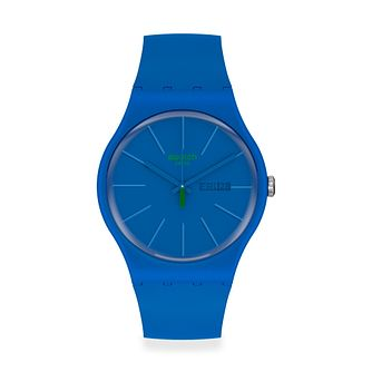 Swatch Beltempo Unisex Blue Silicone Strap Watch - Product number 1260146