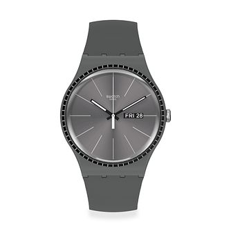 Swatch Grey Rails Unisex Grey Silicone Strap Watch - Product number 1260219