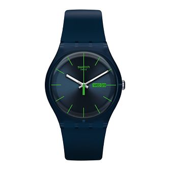 Swatch Blue Rebel Unisex Blue Silcone Strap Watch - Product number 1260227
