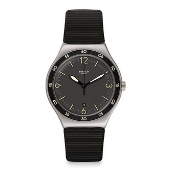 Swatch Black Suit Big Classic Unisex Rubber Strap Watch - Product number 1260294