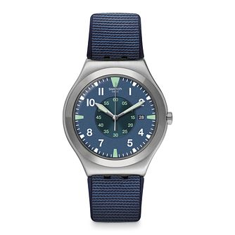 Swatch Teorya Unisex Blue Rubber Strap Watch - Product number 1260308