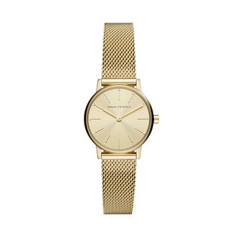 Armani Exchange Ladies' Yellow Gold Mesh Bracelet Watch - Product number 1265458