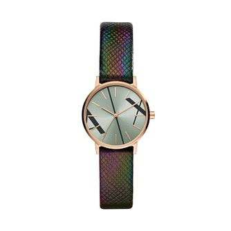 Armani Exchange Ladies' Iridescent Leather Strap Watch - Product number 1265474