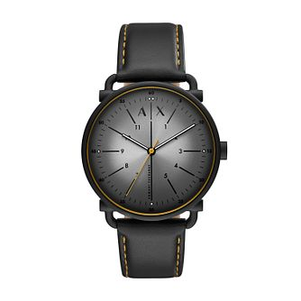 Armani Exchange Men's Black Leather Strap Watch - Product number 1265555