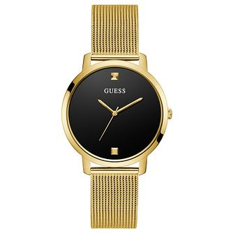 Guess Nova Ladies' Yellow Gold Tone Mesh Bracelet Watch - Product number 1266160