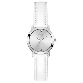 Guess Mini Nova Ladies' White Leather Strap Watch - Product number 1266187