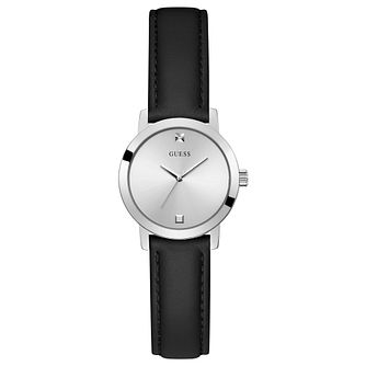 Guess Mini Nova Ladies' Black Leather Strap Watch - Product number 1266195