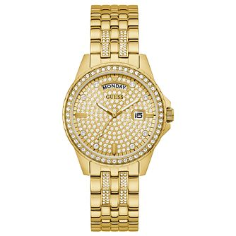 Guess Comet Ladies' Yellow Gold Tone Bracelet Watch - Product number 1266411