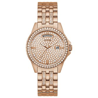 Guess Comet Ladies' Rose Gold Tone Bracelet Watch - Product number 1266438