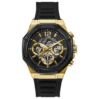 Guess Momentum Men's Black Silicone Strap Watch - Product number 1266489