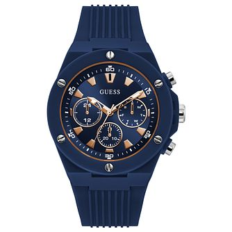 Guess Poseidon Men's Blue Silicone Strap Watch - Product number 1266500