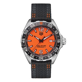 TAG Heuer Formula 1 Men's Grey Fabric Strap Watch - Product number 1266896