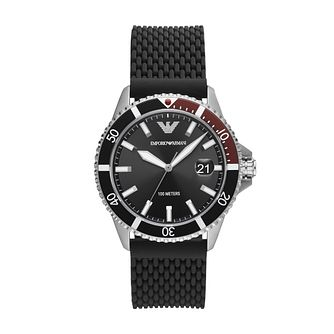 Emporio Armani Men's Black Rubber Strap Watch - Product number 1267086