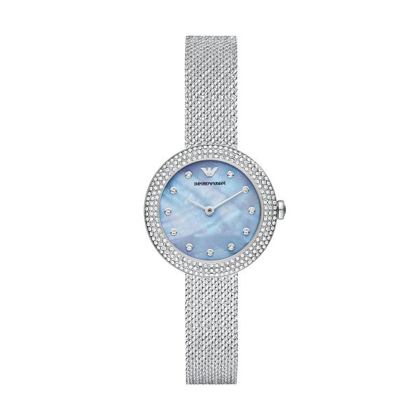 Emporio Armani Ladies' Stainless Steel Mesh Bracelet Watch - Product number 1267167