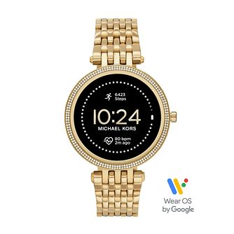 Michael Kors Access Gen 5E Darci Yellow Gold Tone Smartwatch - Product number 1267213