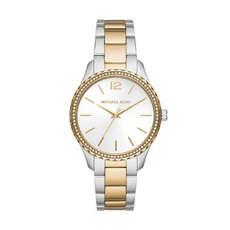 Michael Kors Layton Ladies' Two Tone Bracelet Watch - Product number 1267221