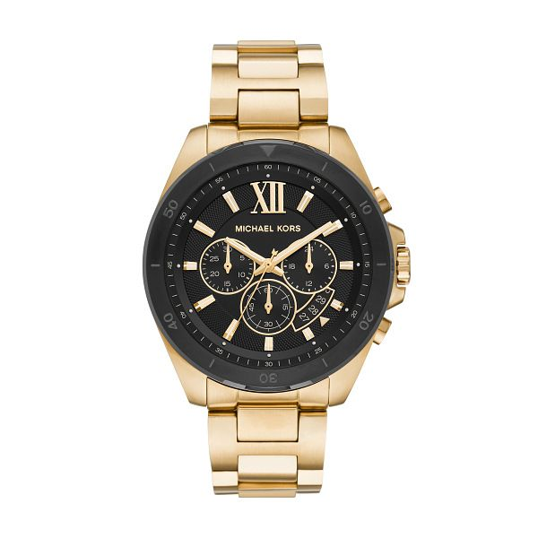 Michael Kors Brecken Men's Yellow Gold Tone Bracelet Watch - Product number 1267272
