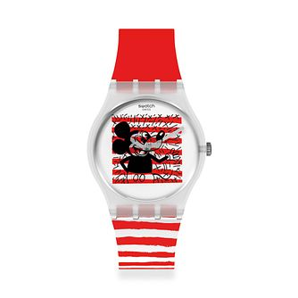 Swatch Disney Mouse Mariniere Red Silicone Strap Watch - Product number 1267701