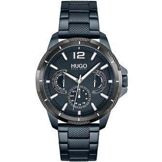 HUGO #SPORT Men's Blue IP Bracelet Watch - Product number 1267736
