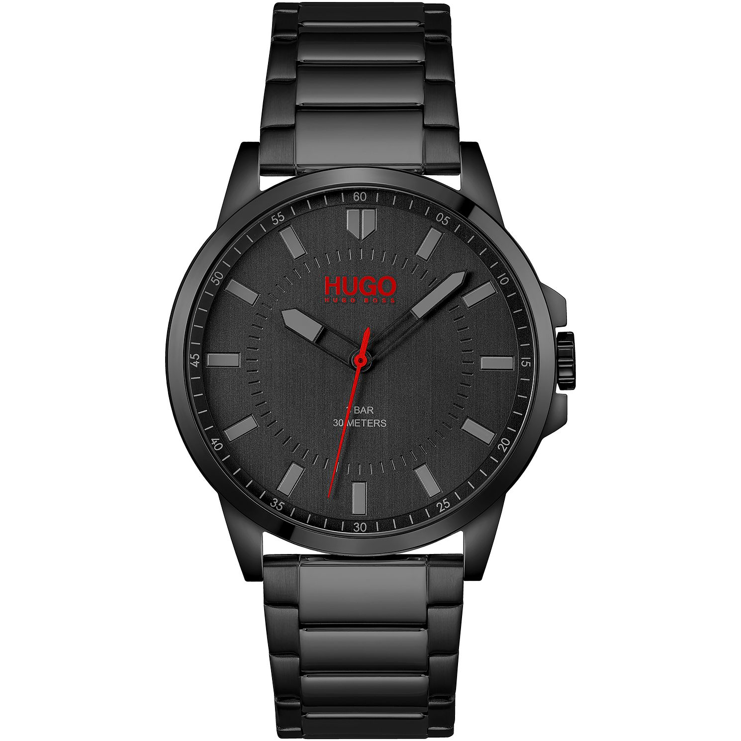 HUGO #FIRST Men's Black IP Bracelet Watch - Product number 1267779