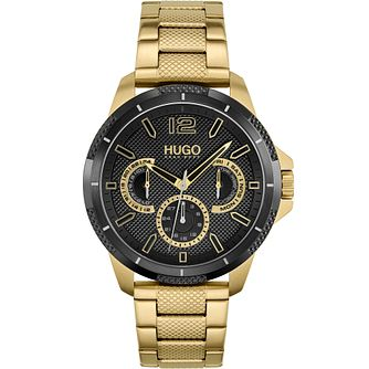 HUGO #SPORT Men's Yellow Gold Tone Bracelet Watch - Product number 1267787