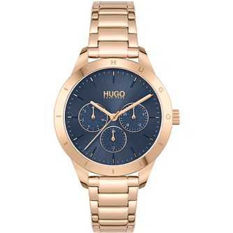 HUGO #FRIEND Ladies' Yellow Gold Tone Bracelet Watch - Product number 1267817