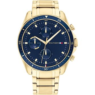 Tommy Hilfiger Parker Men's Yellow Gold Tone Bracelet Watch - Product number 1267914
