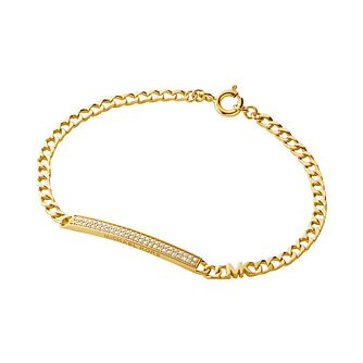 Michael Kors Statement Link Gold Tone Zirconia Bracelet - Product number 1268112
