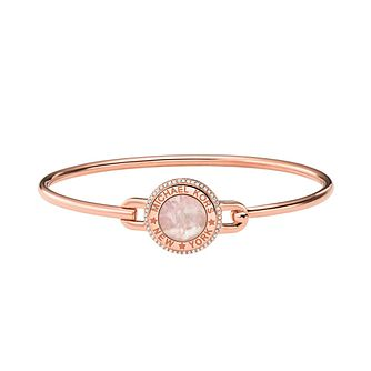 Michael Kors MK Rose Gold Tone Cubic Zirconia Bangle - Product number 1268139