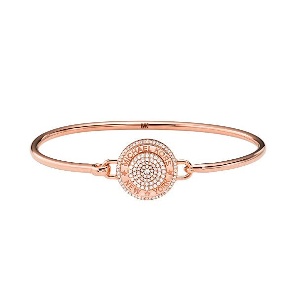 Michael Kors MK Rose Gold Tone Cubic Zirconia Round Bangle - Product number 1268147