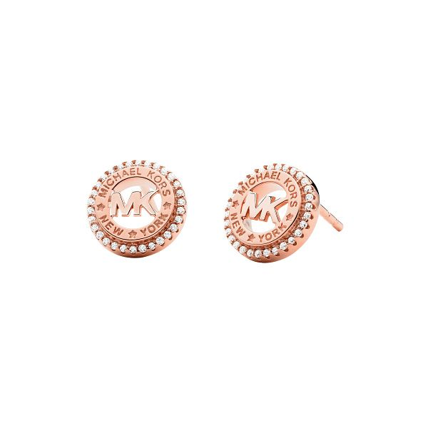 Michael Kors MK Rose Gold Tone Cubic Zirconia Stud Earrings - Product number 1268155