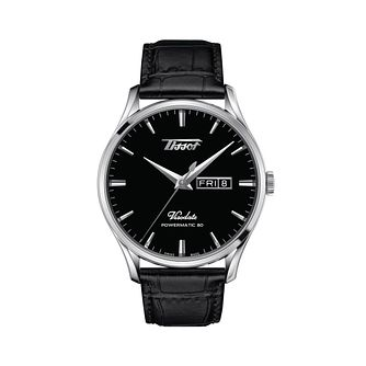 Tissot Heritage Visodate Men's Black Leather Strap Watch - Product number 1268392