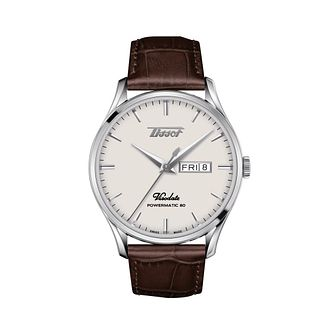 Tissot Heritage Visodate Men's Brown Leather Strap Watch - Product number 1268406