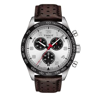 Tissot PRS 516 Chronograph Men's Brown Leather Strap Watch - Product number 1268643