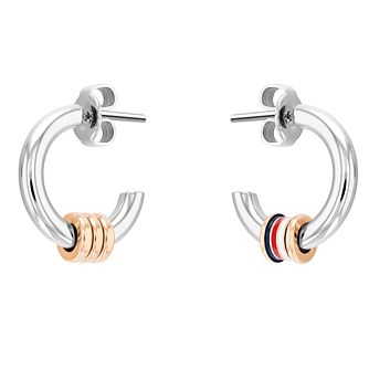 Tommy Hilfiger Ladies' Tri-Colour Bead Hoop Earrings - Product number 1269119