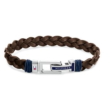 Tommy Hilfiger Men's Brown Leather Braided Bracelet - Product number 1269178