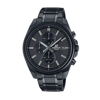 Casio Edifice Chrono Men's Black IP Bracelet Watch - Product number 1269666
