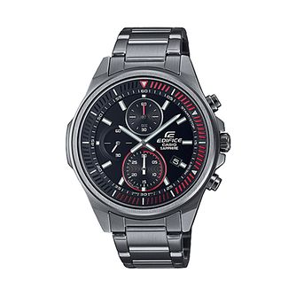 Casio Edifice Chrono Men's Grey IP Bracelet Watch - Product number 1270419