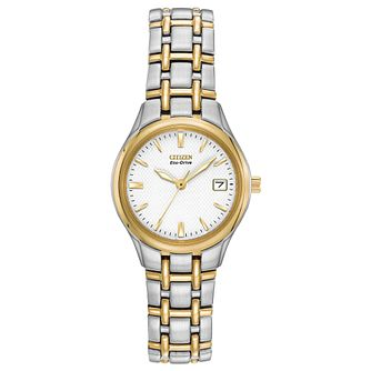 Citizen Eco-Drive Silhouette Ladies' Two Tone Bracelet Watch - Product number 1270621
