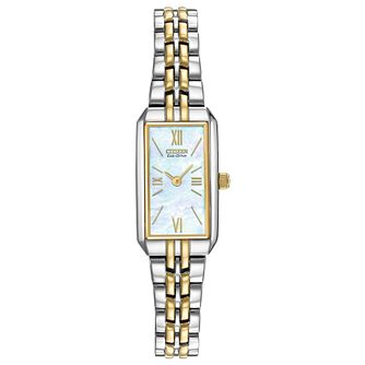 Citizen Eco-Drive Silhouette Ladies' Two Tone Bracelet Watch - Product number 1270656