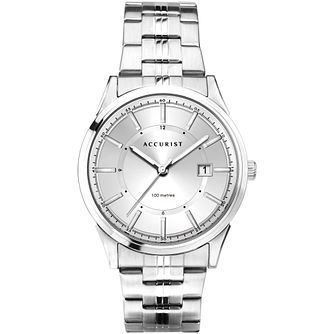 Accurist Date Men's Stainless Steel Bracelet Watch - Product number 1271784