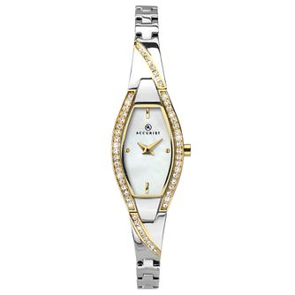 Accurist Crystal Ladies' Two Tone Bracelet Watch - Product number 1271792