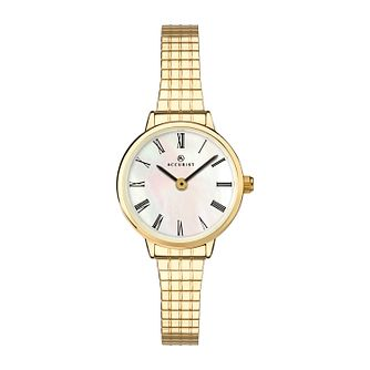 Accurist Ladies' Gold Tone Expander Bracelet Watch - Product number 1271814