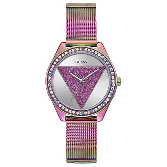 Guess Tri Glitz Ladies' Rose Gold Tone Mesh Bracelet Watch - Product number 1271830