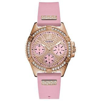 Guess Lady Frontier Ladies' Pink Rubber Strap Watch - Product number 1271849